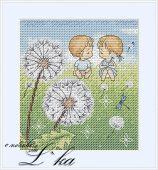 Схема для вышивки крестом Нежные иллюстрации - Одуванчики