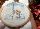 Схема для вышивки крестом Нежные иллюстрации - На пристани. Отшив