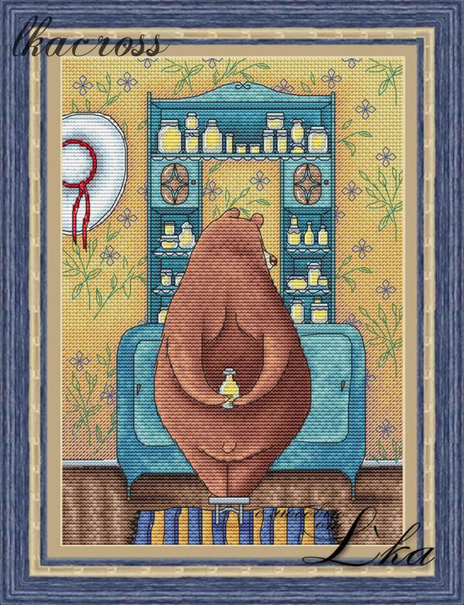 Схема для вышивки крестом Любимый комод
