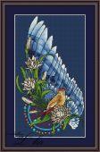 Схема для вышивки крестом Ловец снов - Птица