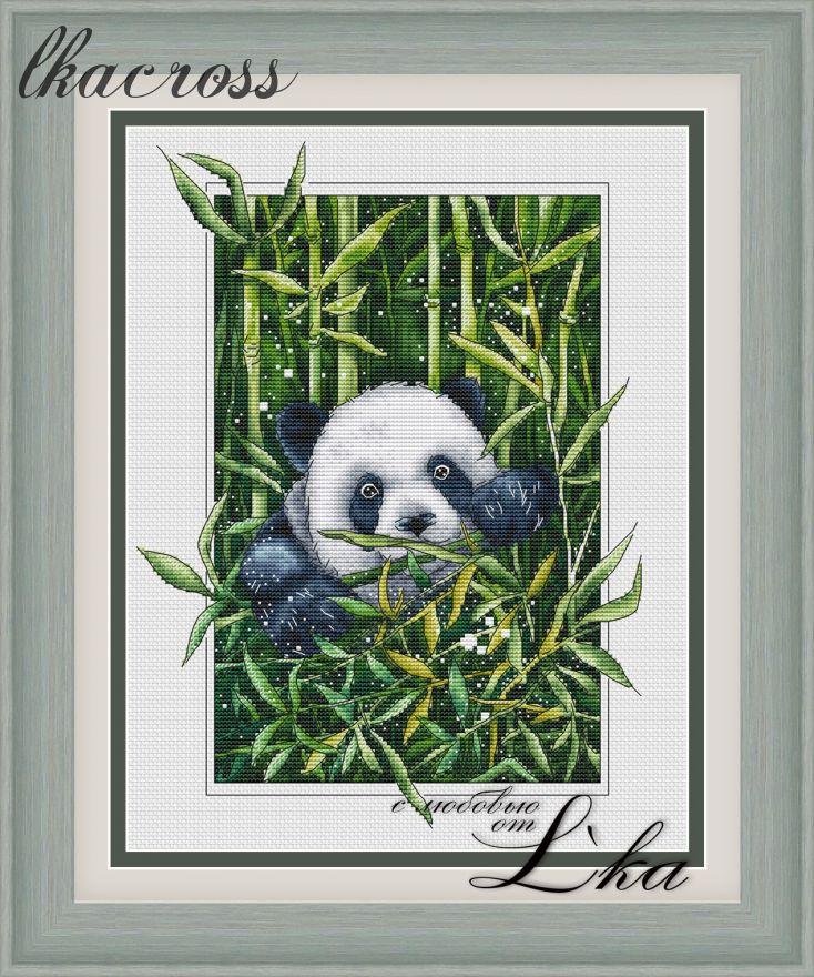 Схема для вышивки крестом Панда
