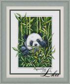 Схема для вышивки крестом Панда.