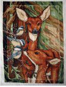 Схема для вышивки крестом Жители леса - Олени. Отшив.