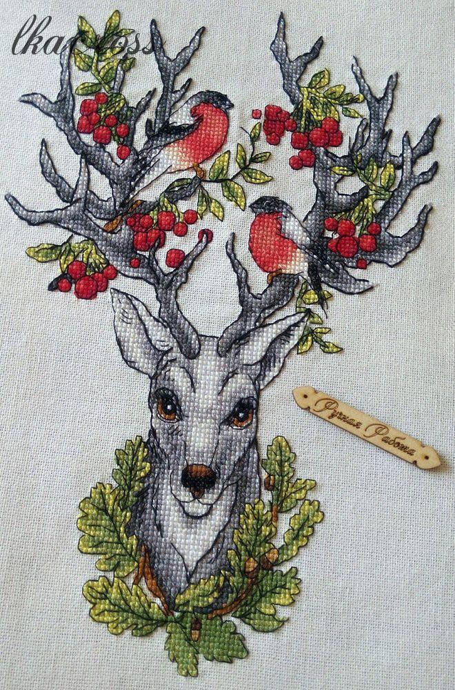 Схема для вышивки крестом Хранитель леса.