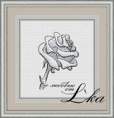 Бесплатная схема для вышивки крестом Роза 3