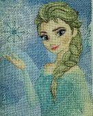 Схема для вышивки крестом Эльза. Отшив.