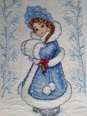 Схема для вышивки крестом Снегурочка. Отшив.