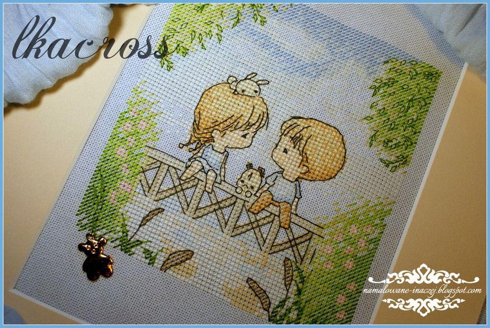 Схема для вышивки крестом Нежные иллюстрации - На мостике. Отшив.
